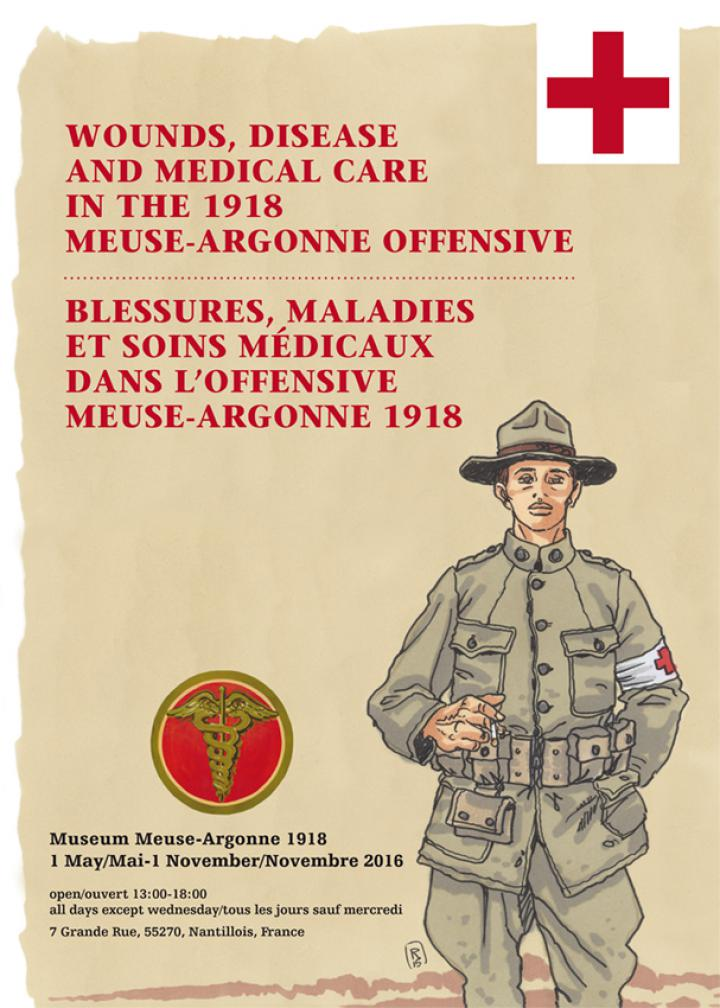 Expositie 'Wounds, disease and medical care during the Meuse-Argonne offensive 1918'