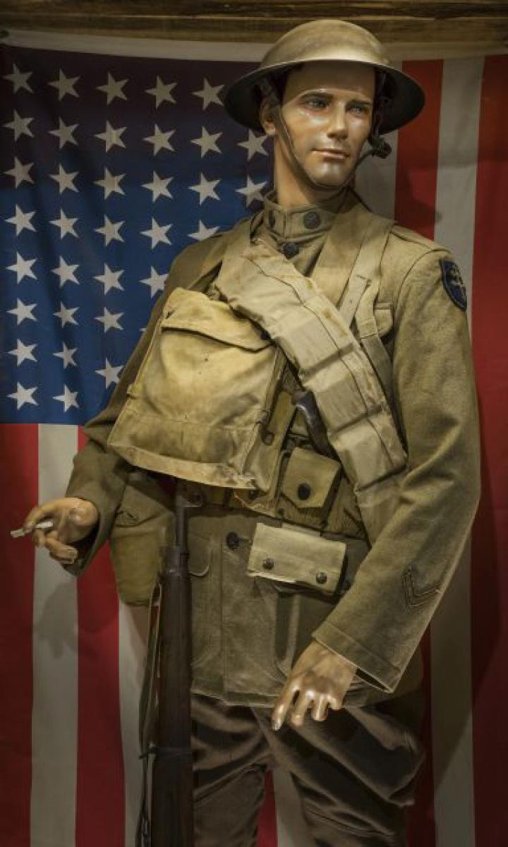 Bill - American soldier in museum Meuse Argonne 1918